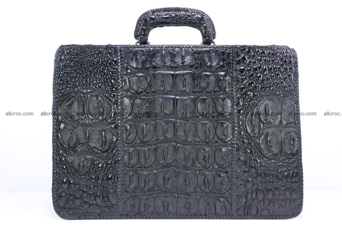 Hand braided crocodile skin briefcase 286 Foto 3