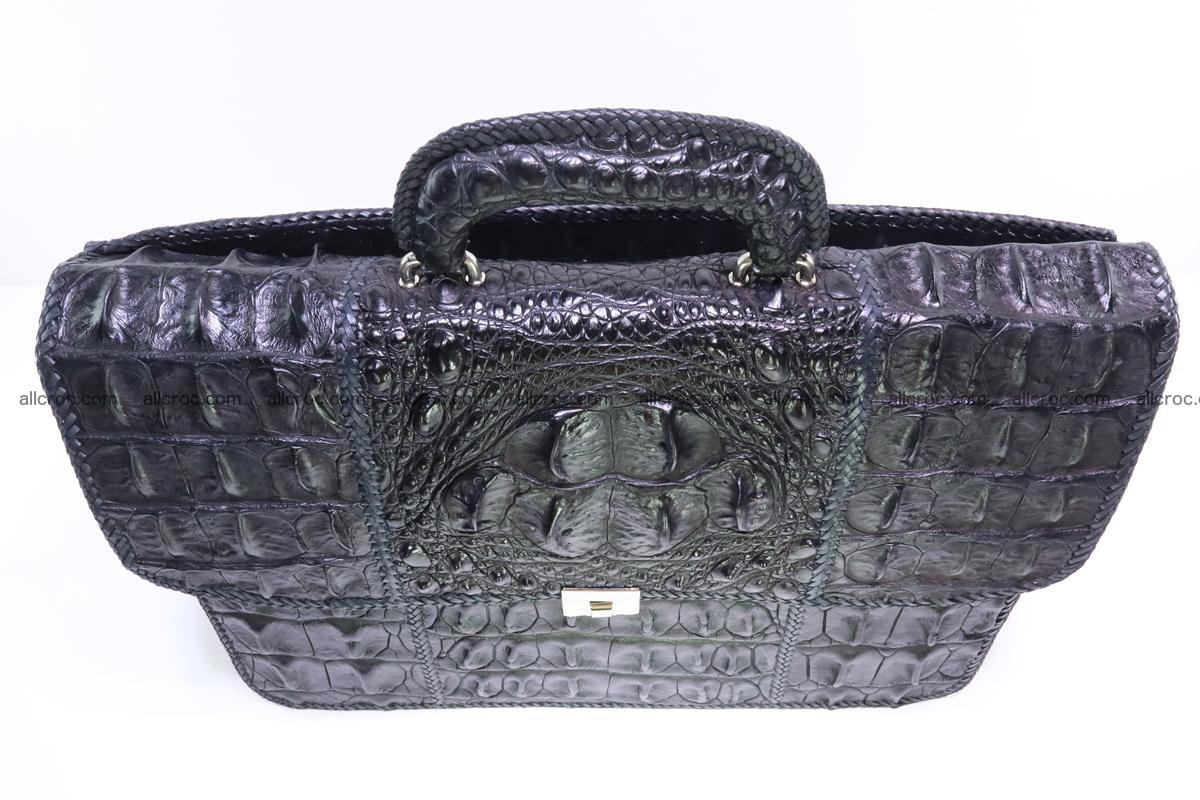 Hand braided crocodile skin briefcase 286 Foto 4