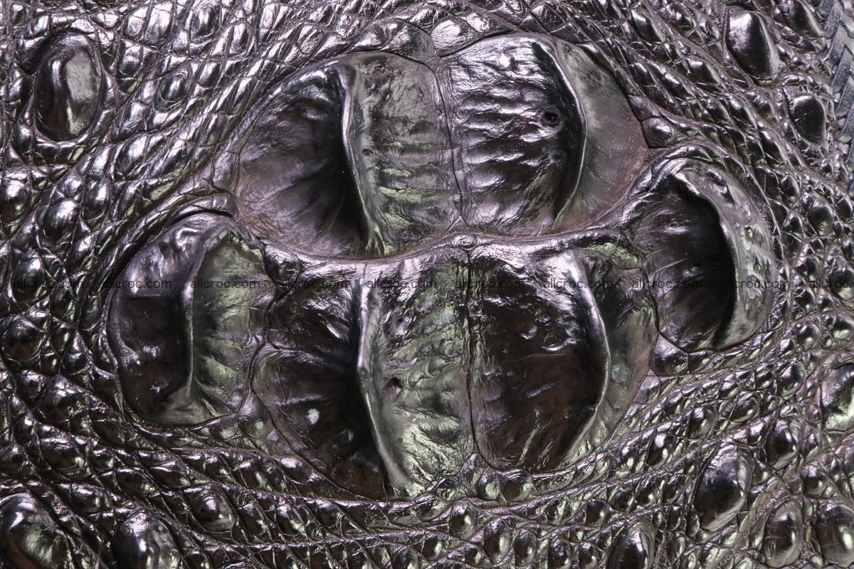 Hand braided crocodile skin briefcase 286 Foto 6