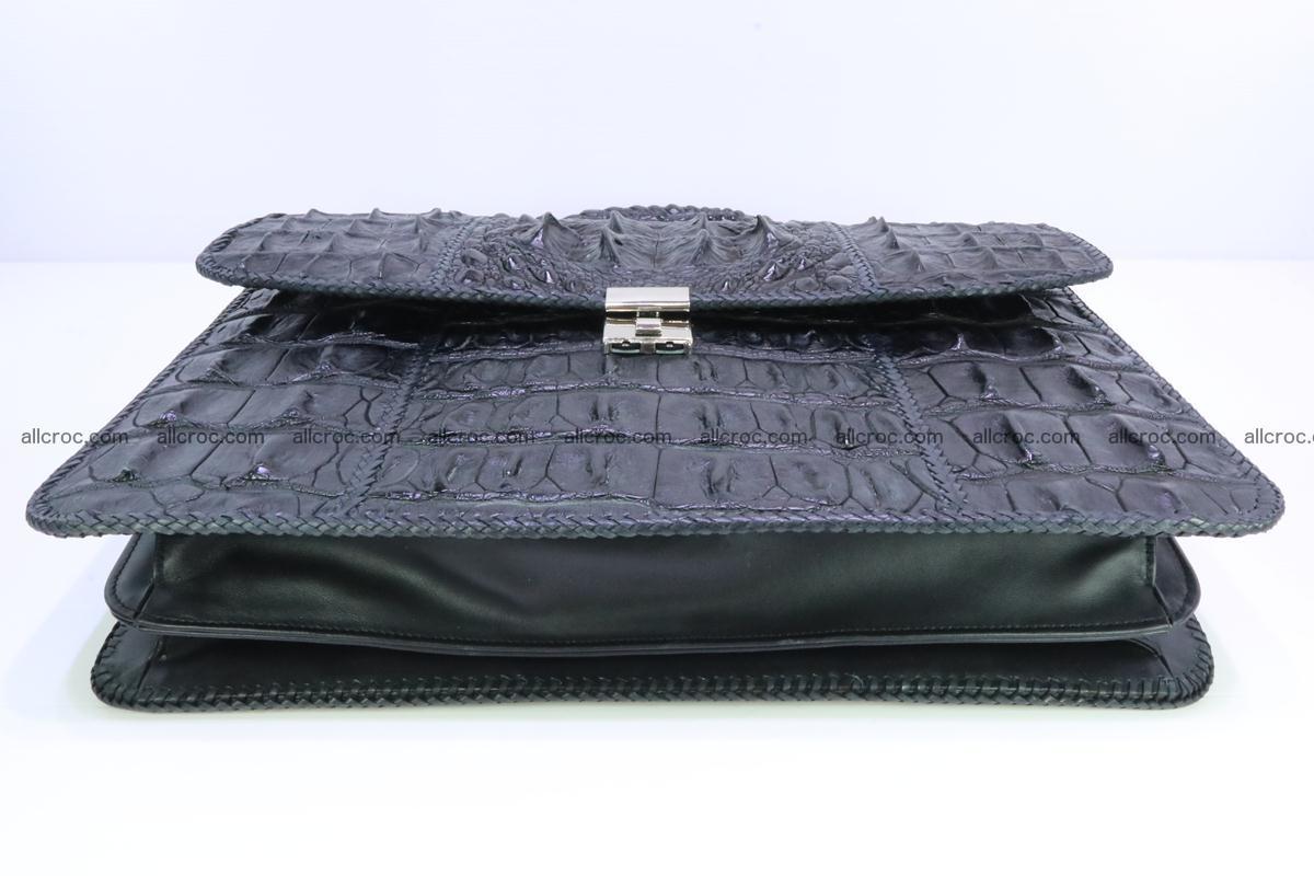 Hand braided crocodile skin briefcase 286 Foto 8