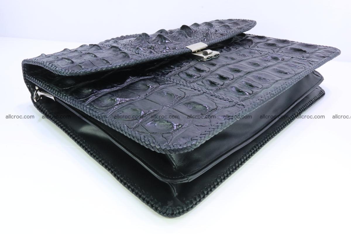 Hand braided crocodile skin briefcase 286 Foto 9