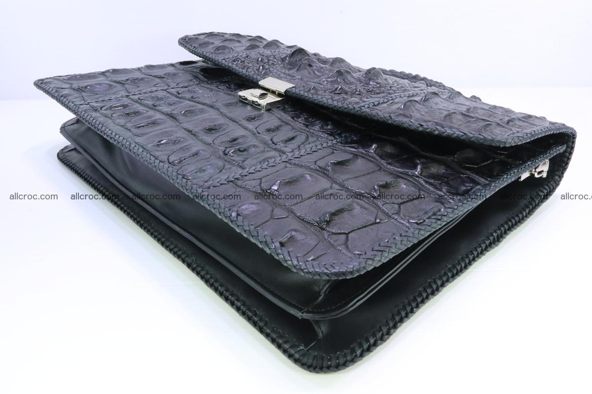 Hand braided crocodile skin briefcase 286 Foto 10