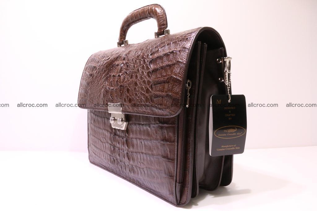 Crocodile skin briefcase 291 Foto 3