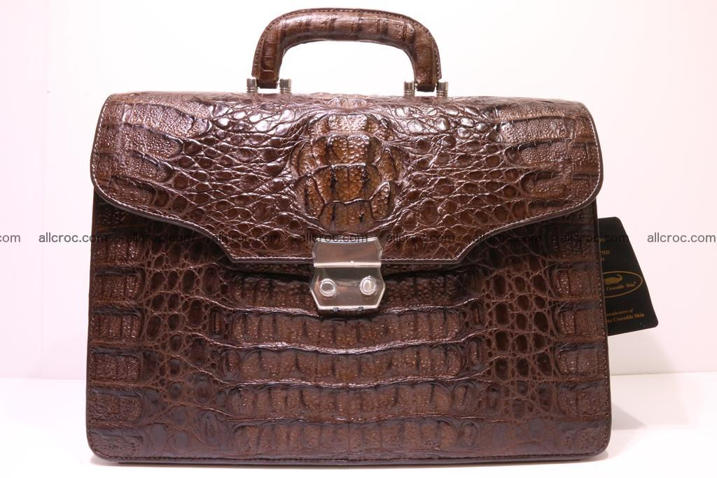 Crocodile skin briefcase 284 Foto 0