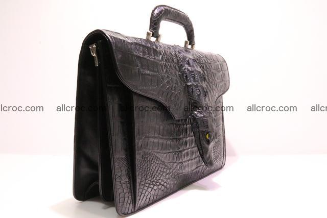 Crocodile skin briefcase with crocodile head 290 Foto 1