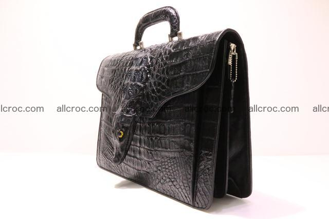 Crocodile skin briefcase with crocodile head 290 Foto 2