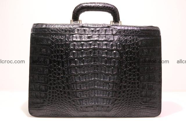 Crocodile skin briefcase with crocodile head 290 Foto 9