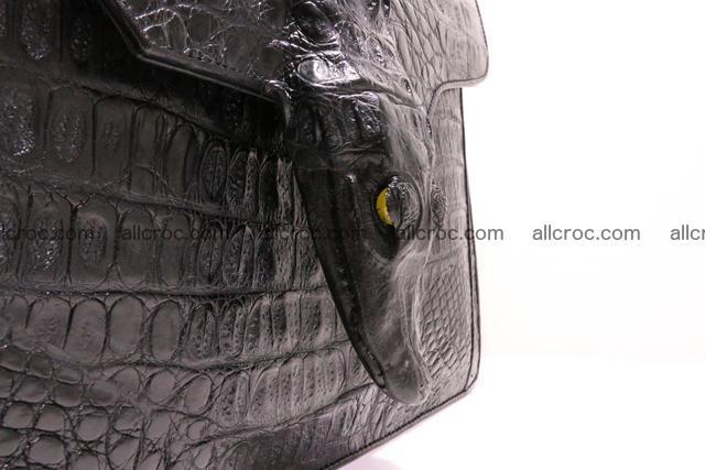 Crocodile skin briefcase with crocodile head 290 Foto 5