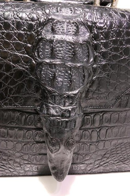 Crocodile skin briefcase with crocodile head 290 Foto 4