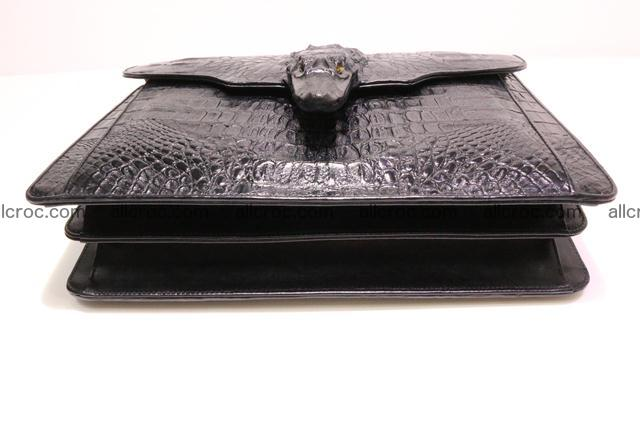 Crocodile skin briefcase with crocodile head 290 Foto 11