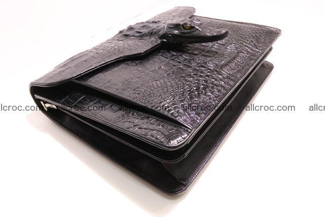 Crocodile skin briefcase with crocodile head 290 Foto 12