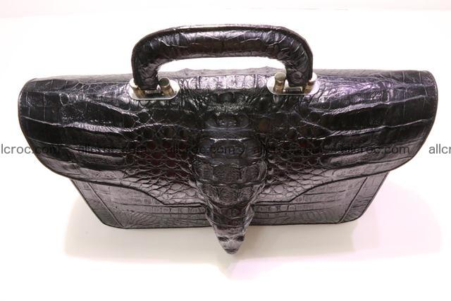 Crocodile skin briefcase with crocodile head 290 Foto 10