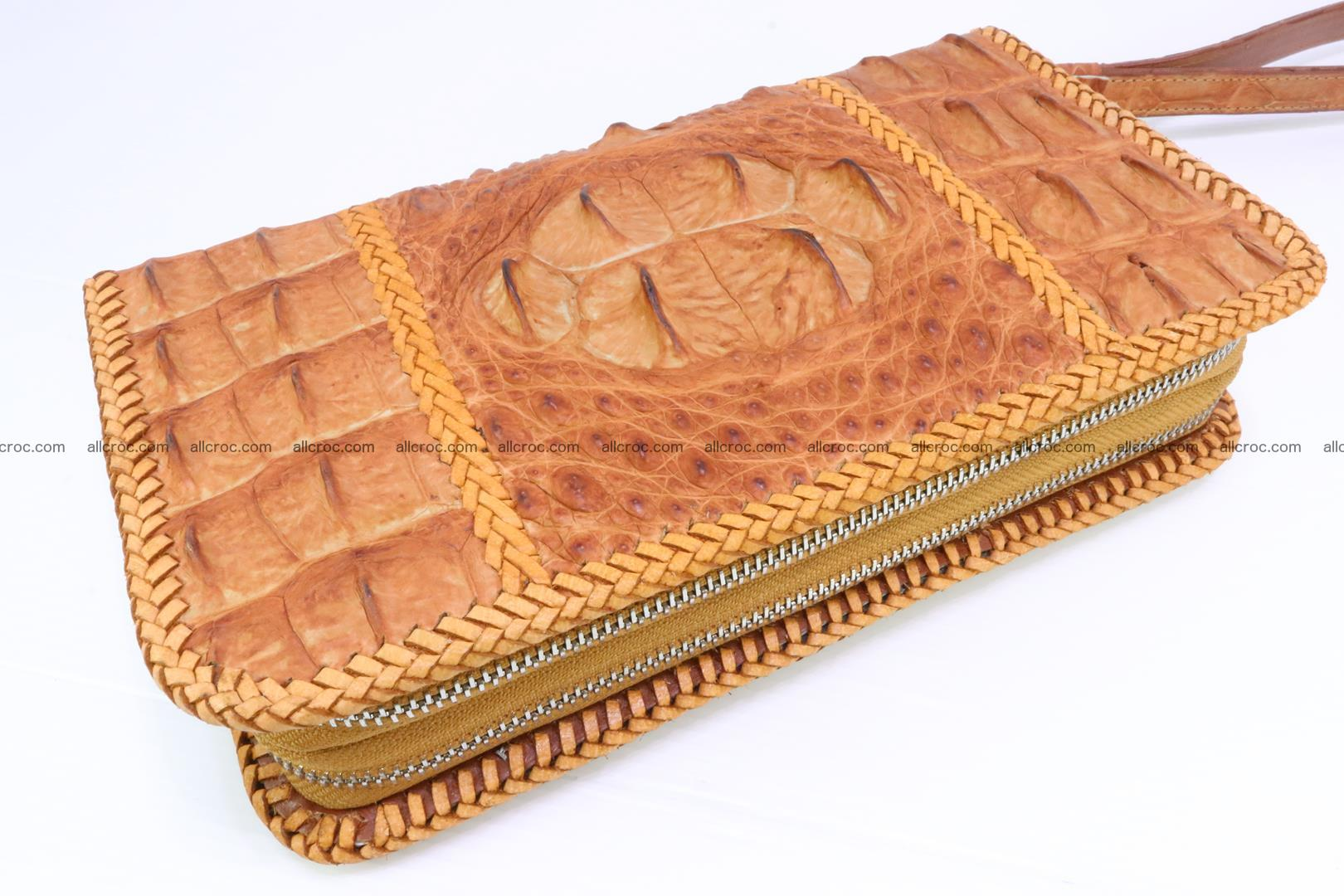 Crocodile clutch for men from genuine hornback crocodile leather 157 Foto 0