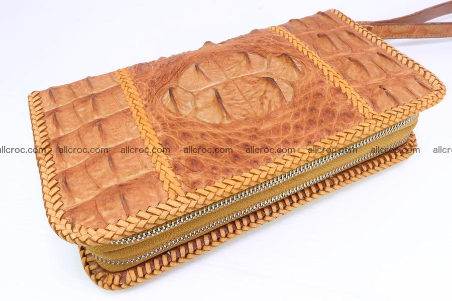 Crocodile clutch for men from genuine hornback crocodile leather 157
