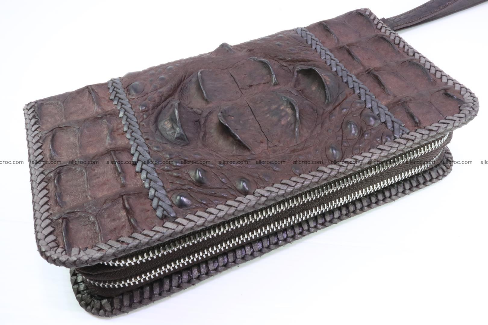 Crocodile clutch for men from genuine hornback crocodile leather 159 Foto 0