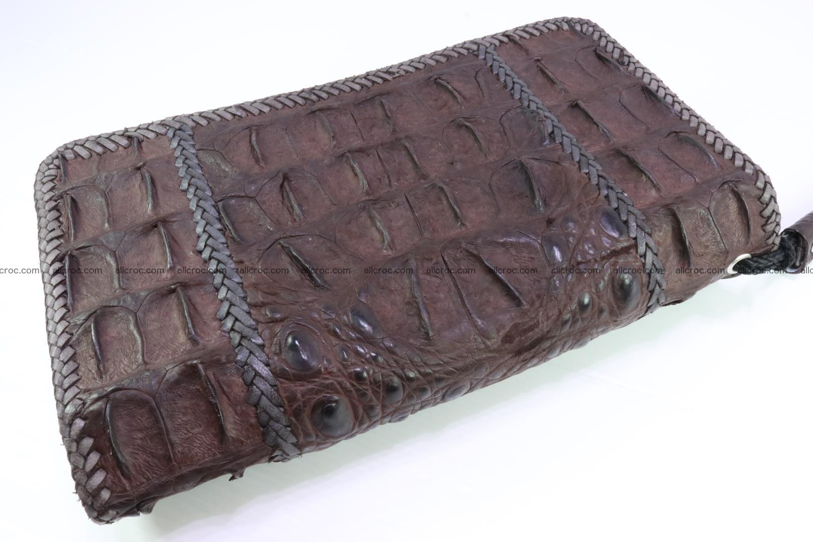 Crocodile clutch for men from genuine hornback crocodile leather 159 Foto 1