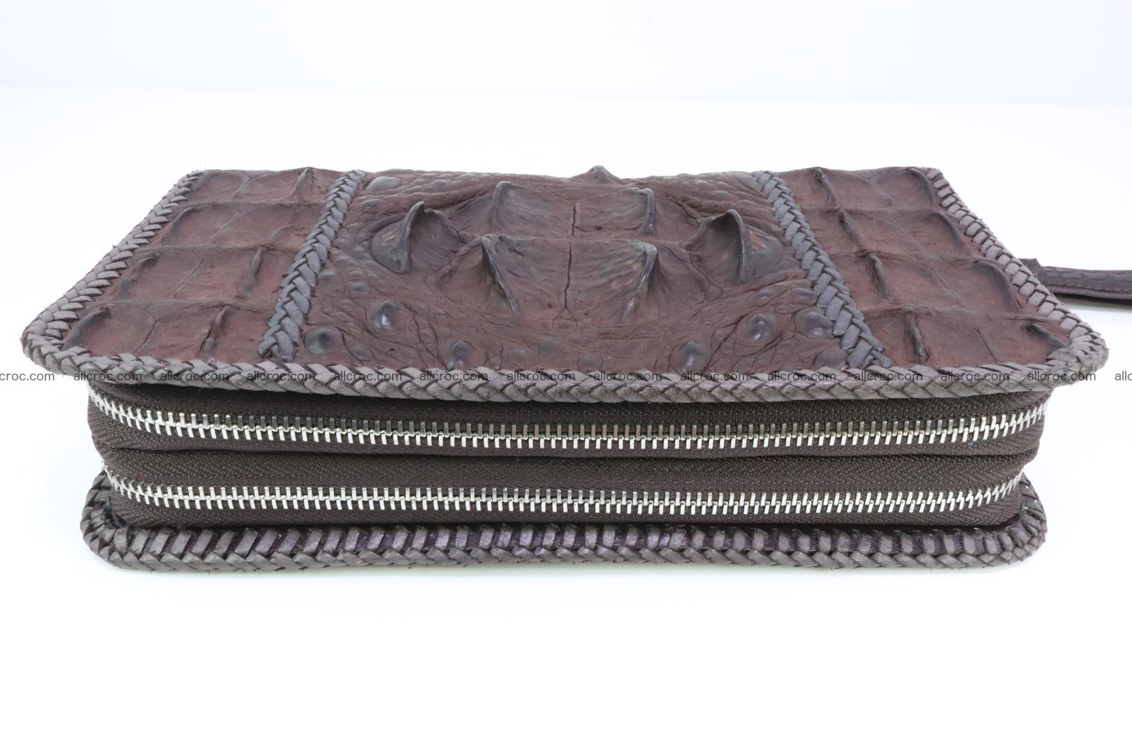Crocodile clutch for men from genuine hornback crocodile leather 159 Foto 2