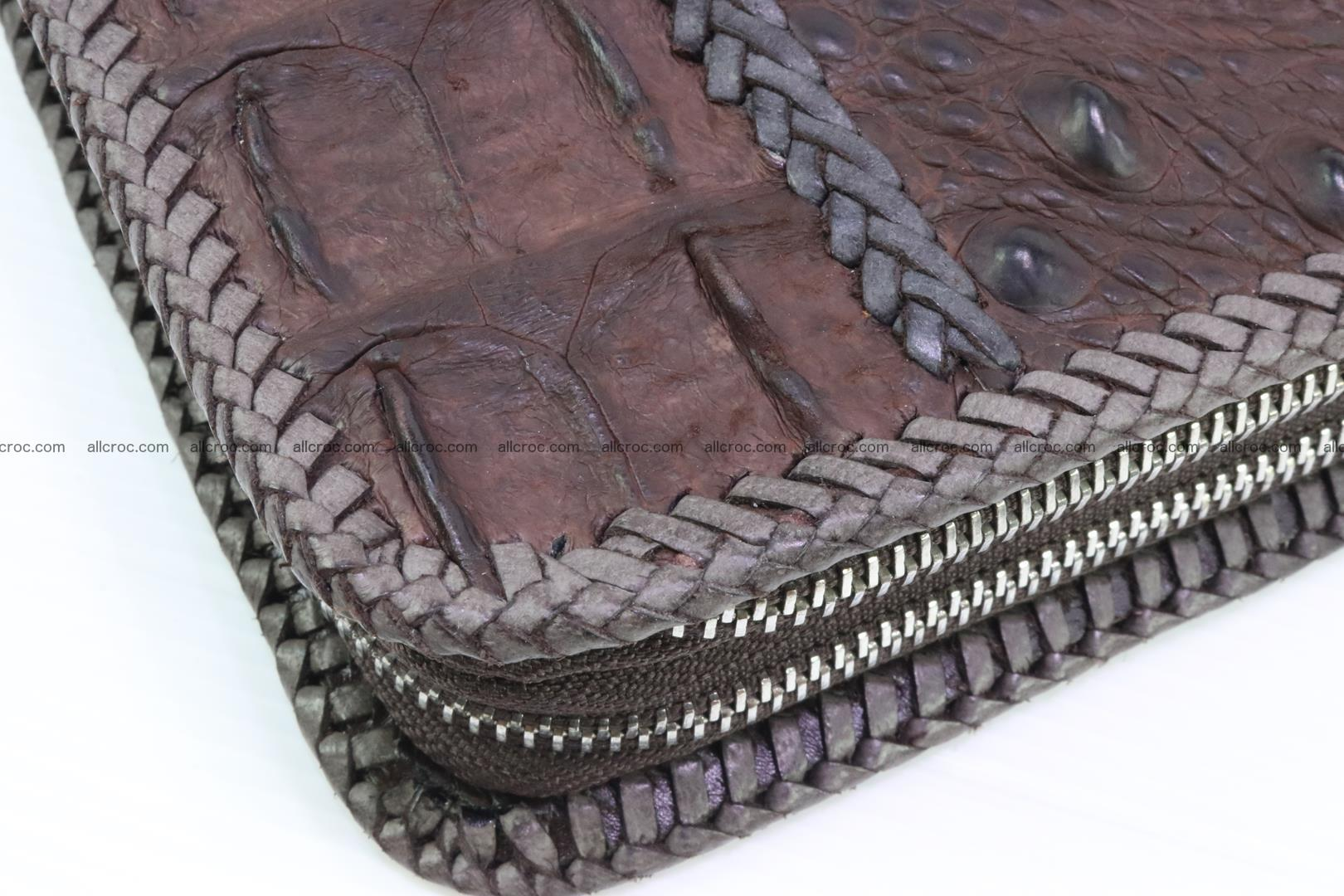 Crocodile clutch for men from genuine hornback crocodile leather 159 Foto 4