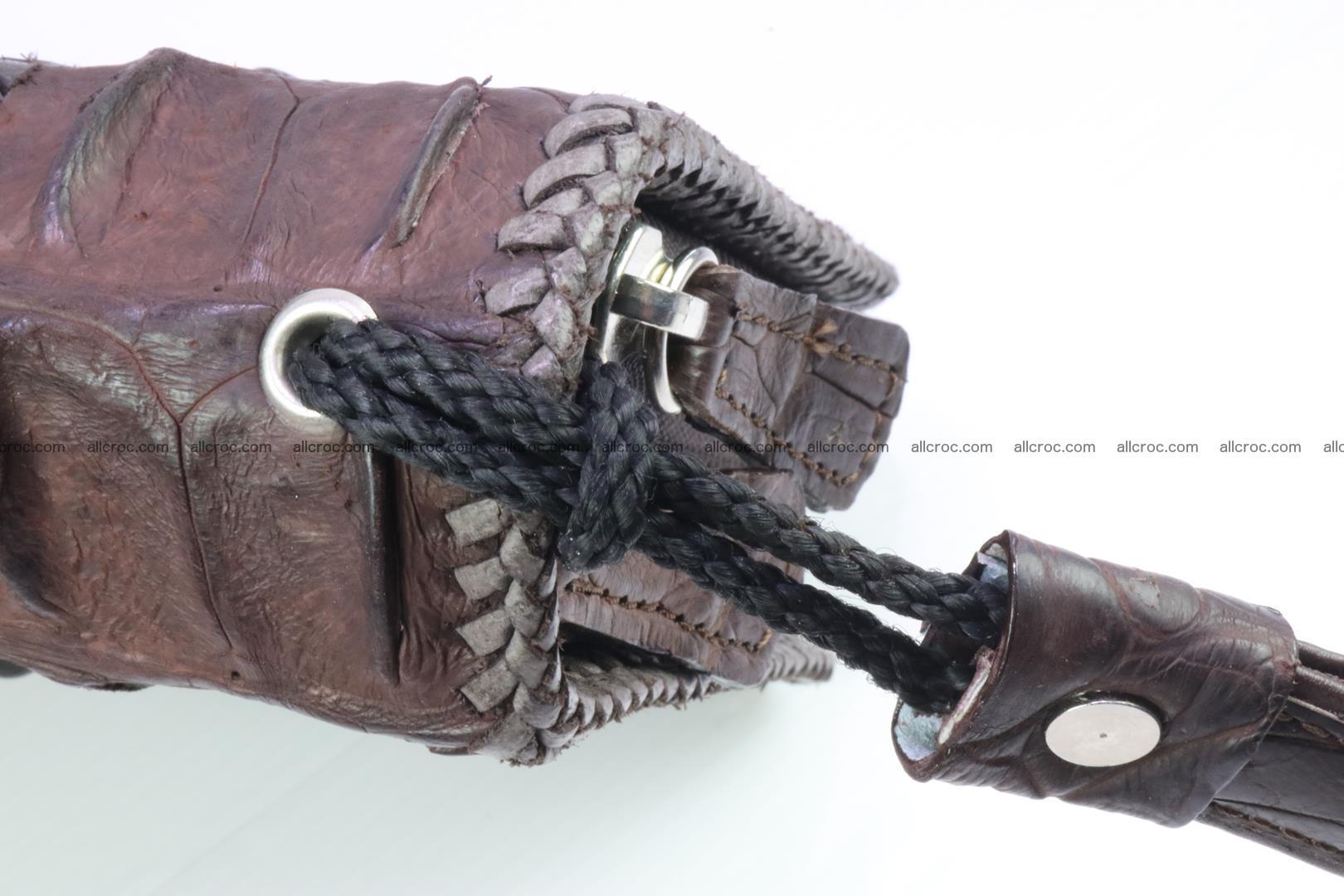 Crocodile skin clutch brown color 159 Foto 6