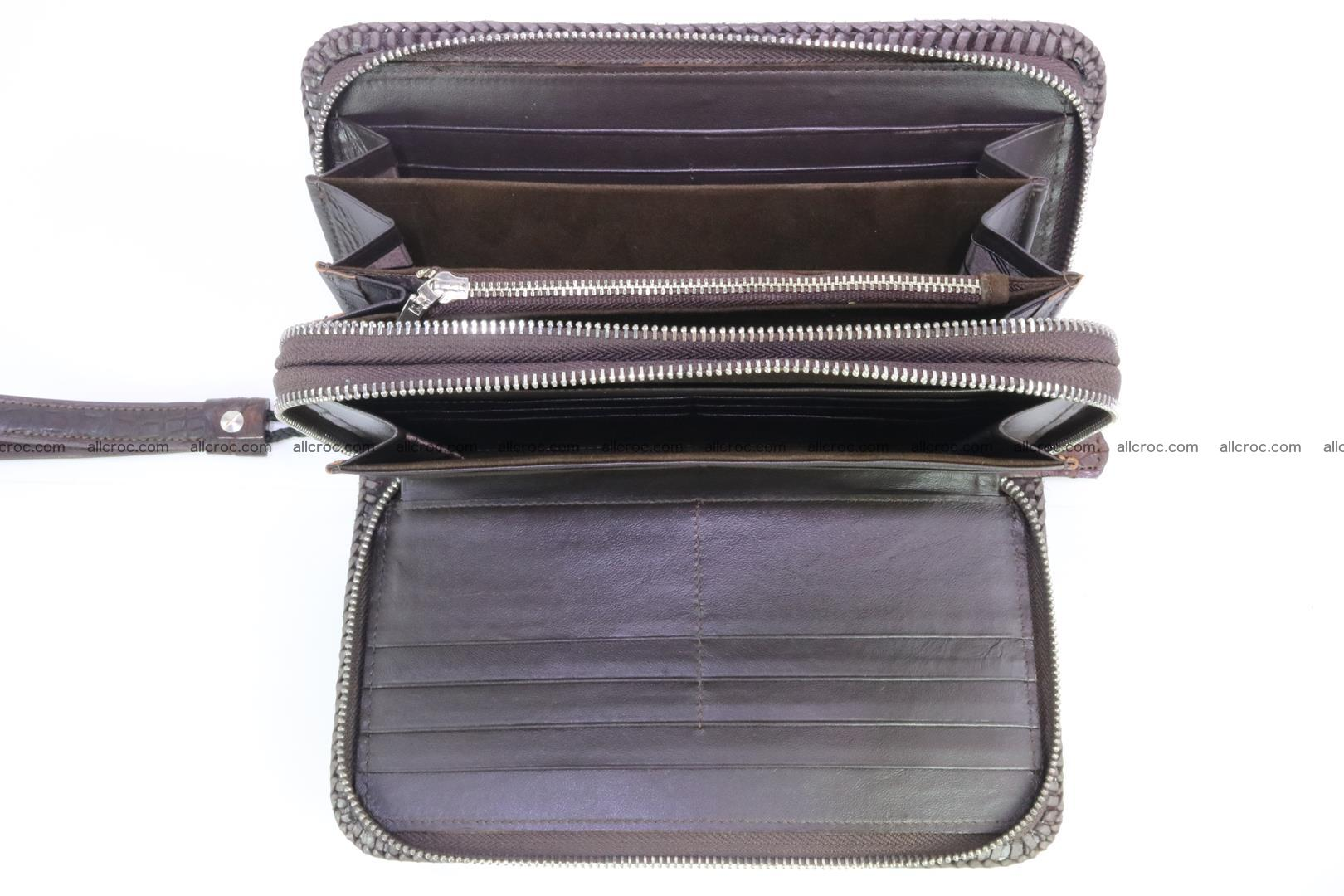 Crocodile clutch for men from genuine hornback crocodile leather 159 Foto 8