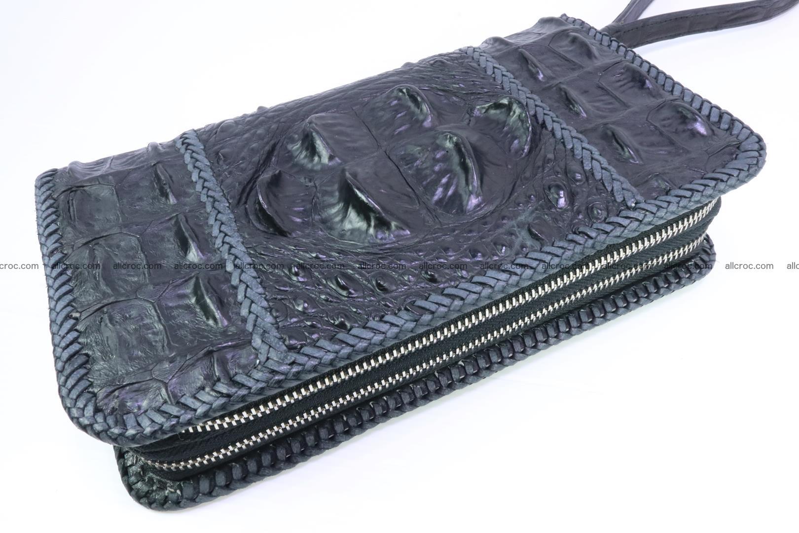 Crocodile clutch for men from genuine hornback crocodile leather 160 Foto 0