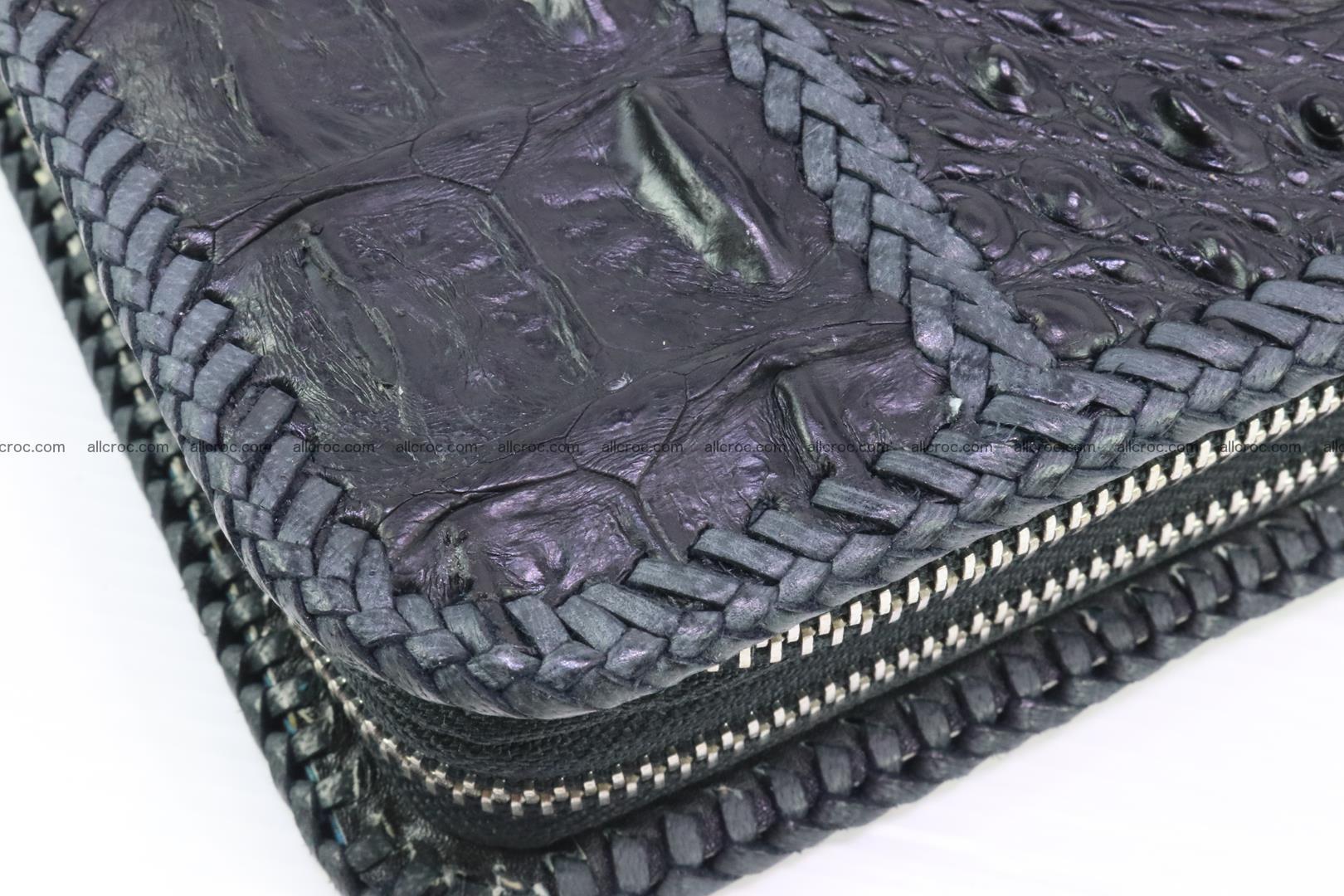 Crocodile clutch for men from genuine hornback crocodile leather 160 Foto 6