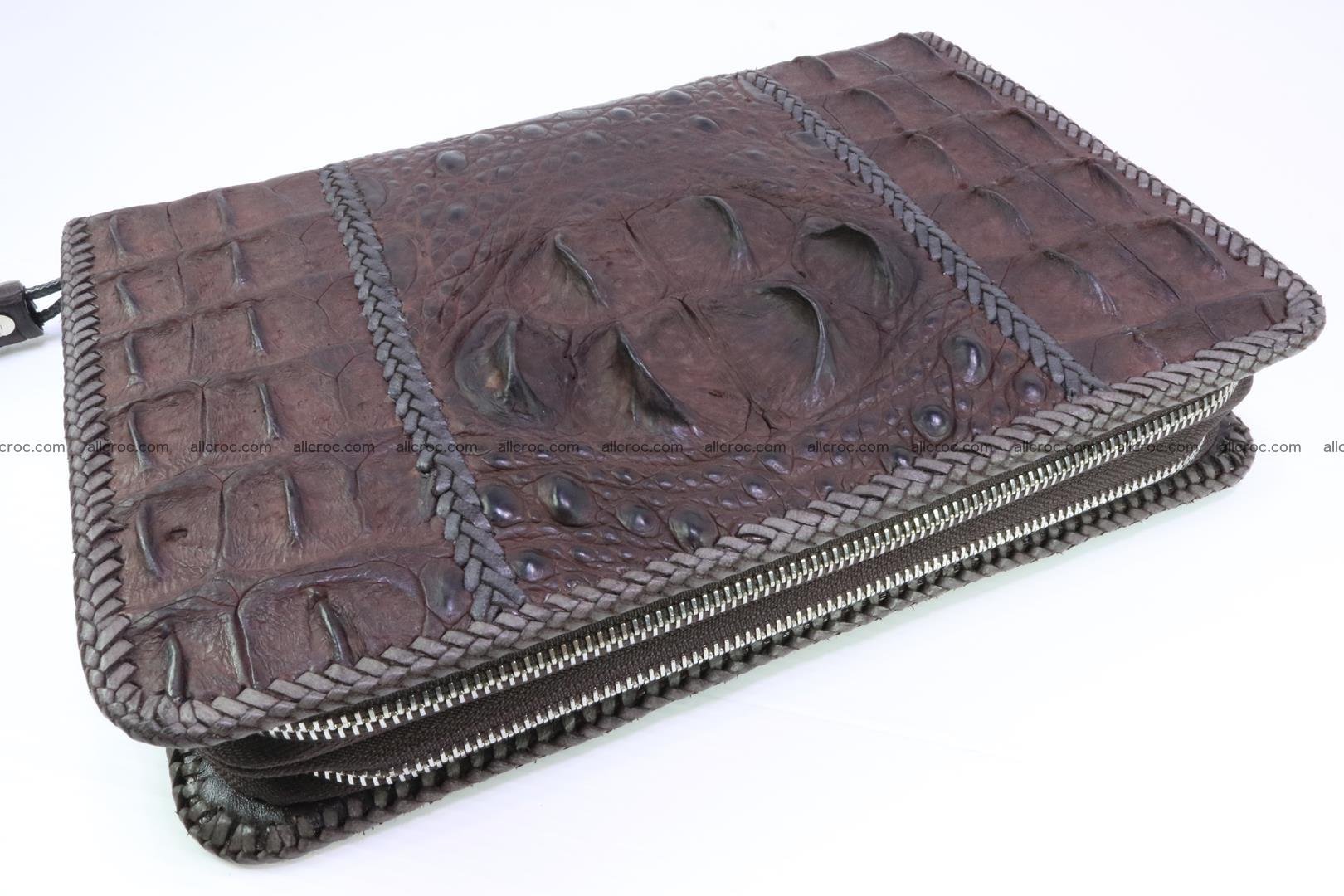 Crocodile clutch for men from genuine hornback crocodile leather 163 Foto 0