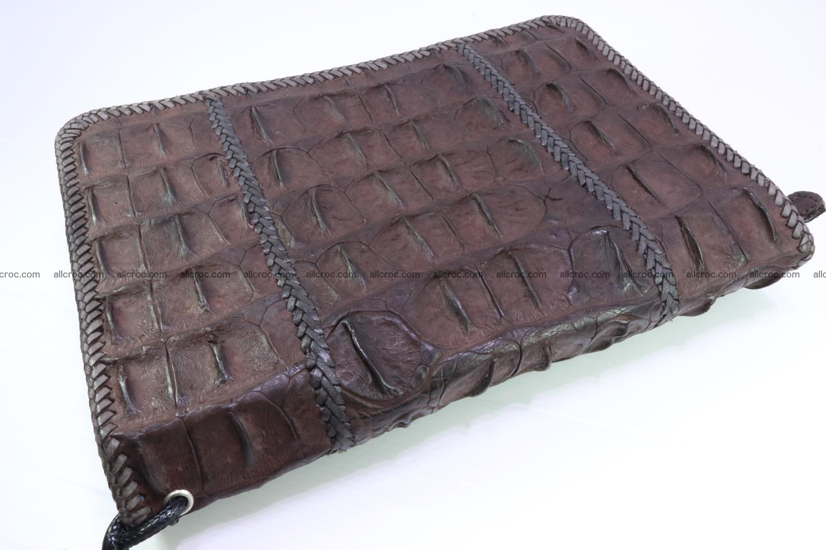 Crocodile clutch for men from genuine hornback crocodile leather 163 Foto 1