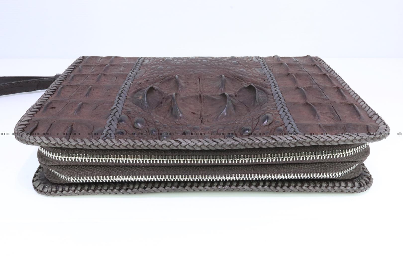 Crocodile clutch for men from genuine hornback crocodile leather 163 Foto 2