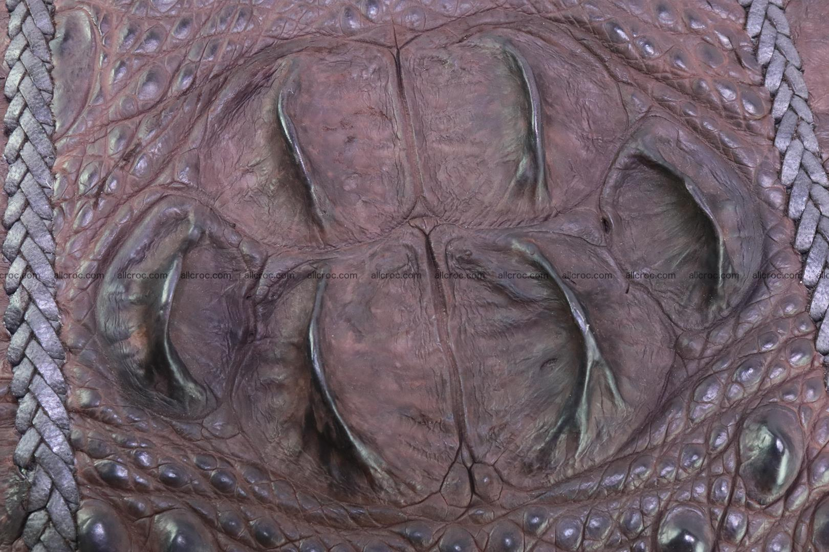 Crocodile clutch for men from genuine hornback crocodile leather 163 Foto 3