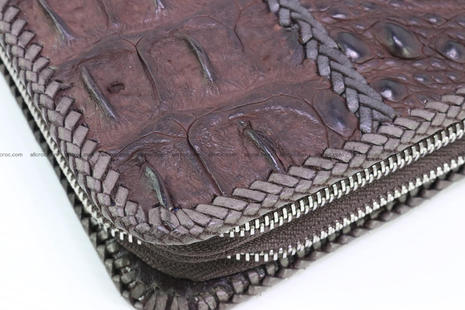 Crocodile clutch for men from genuine hornback crocodile leather 163 Foto 5