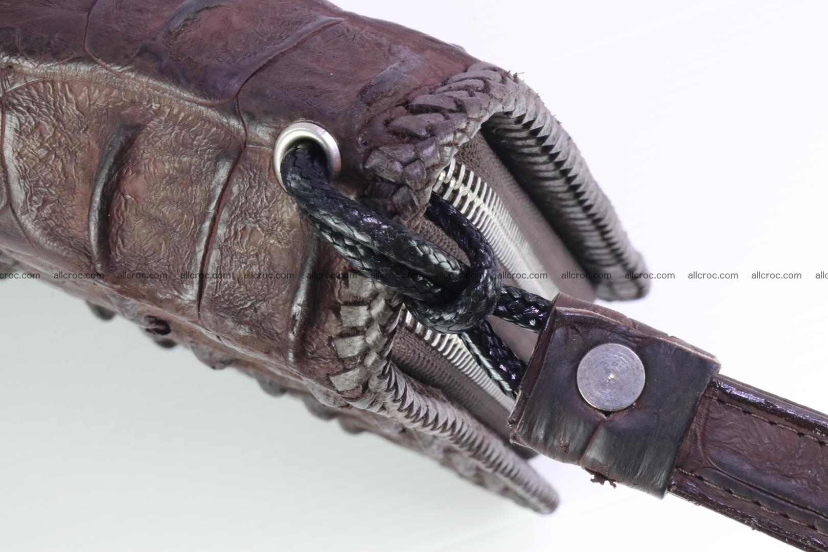 Crocodile clutch for men from genuine hornback crocodile leather 163 Foto 7