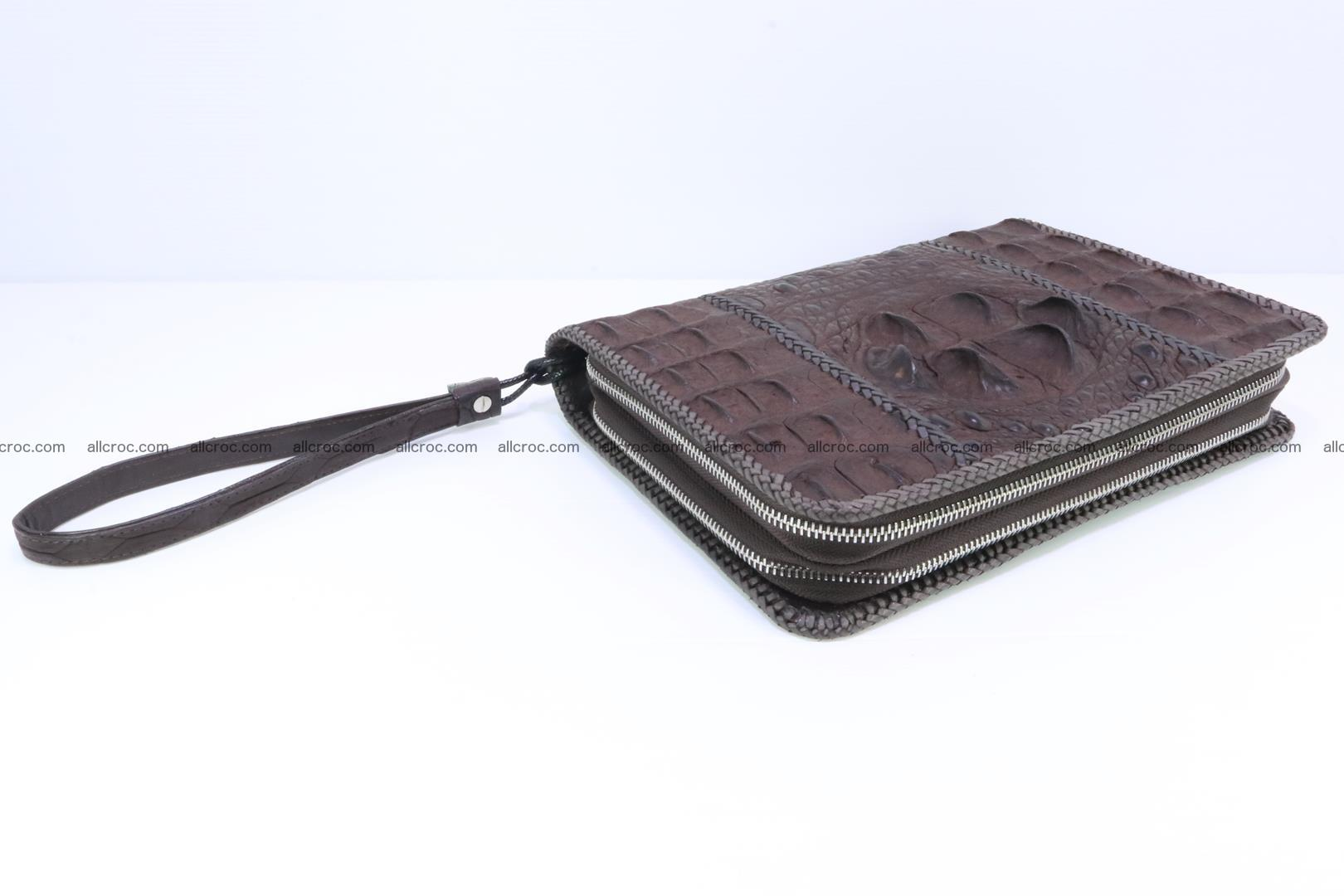 Crocodile clutch for men from genuine hornback crocodile leather 163 Foto 6