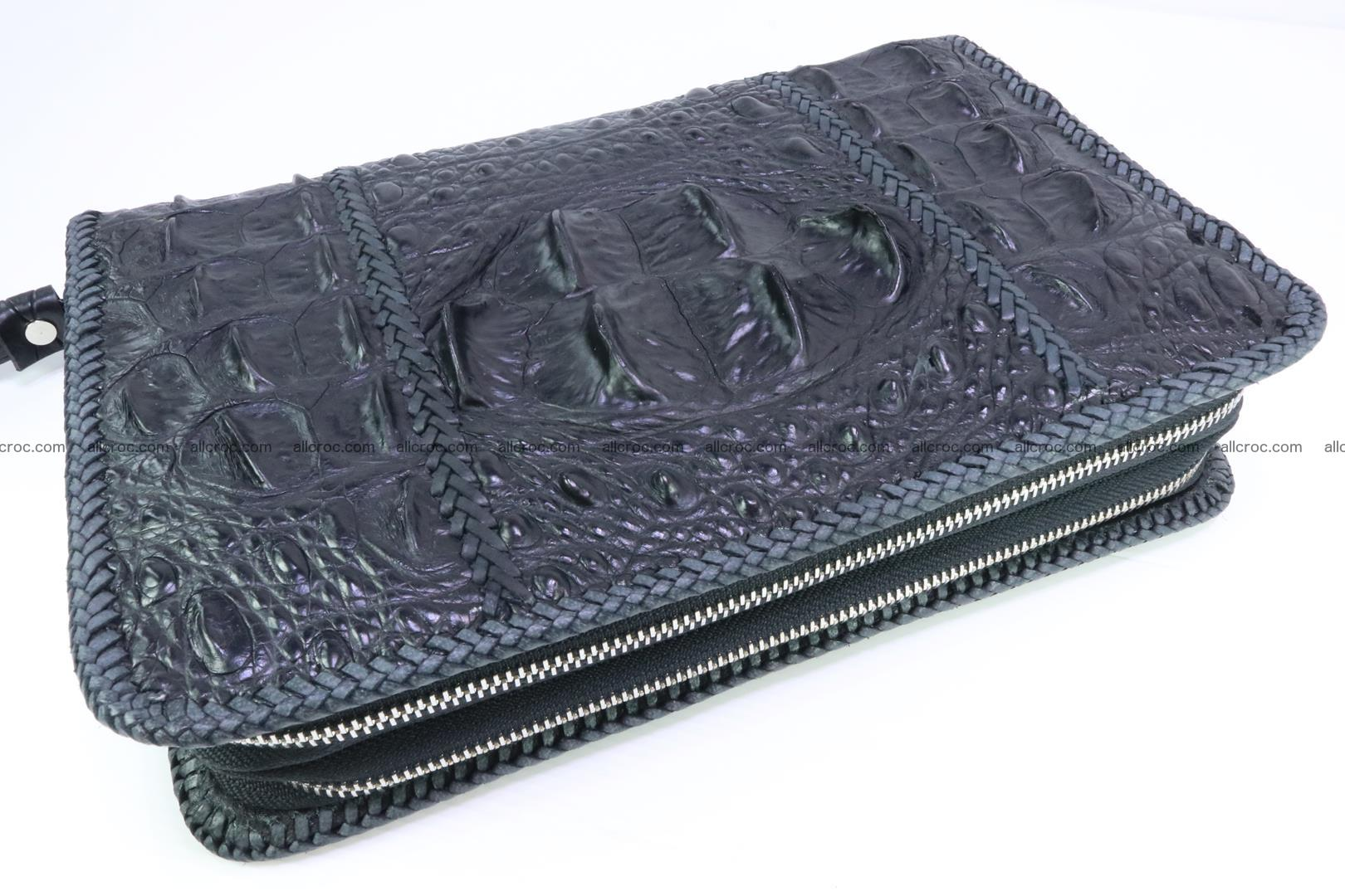 Crocodile clutch for men from genuine hornback crocodile leather 164 Foto 0