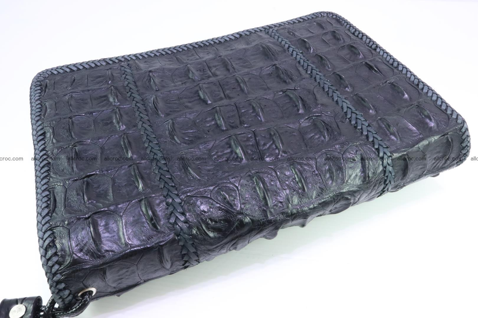 Crocodile clutch for men from genuine hornback crocodile leather 164 Foto 1