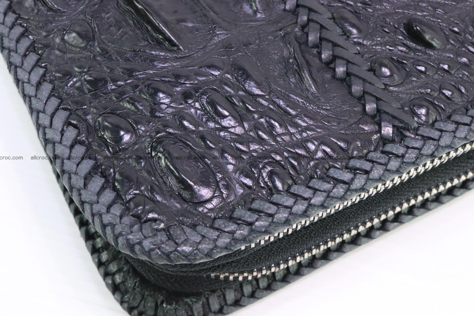 Crocodile clutch for men from genuine hornback crocodile leather 164 Foto 4