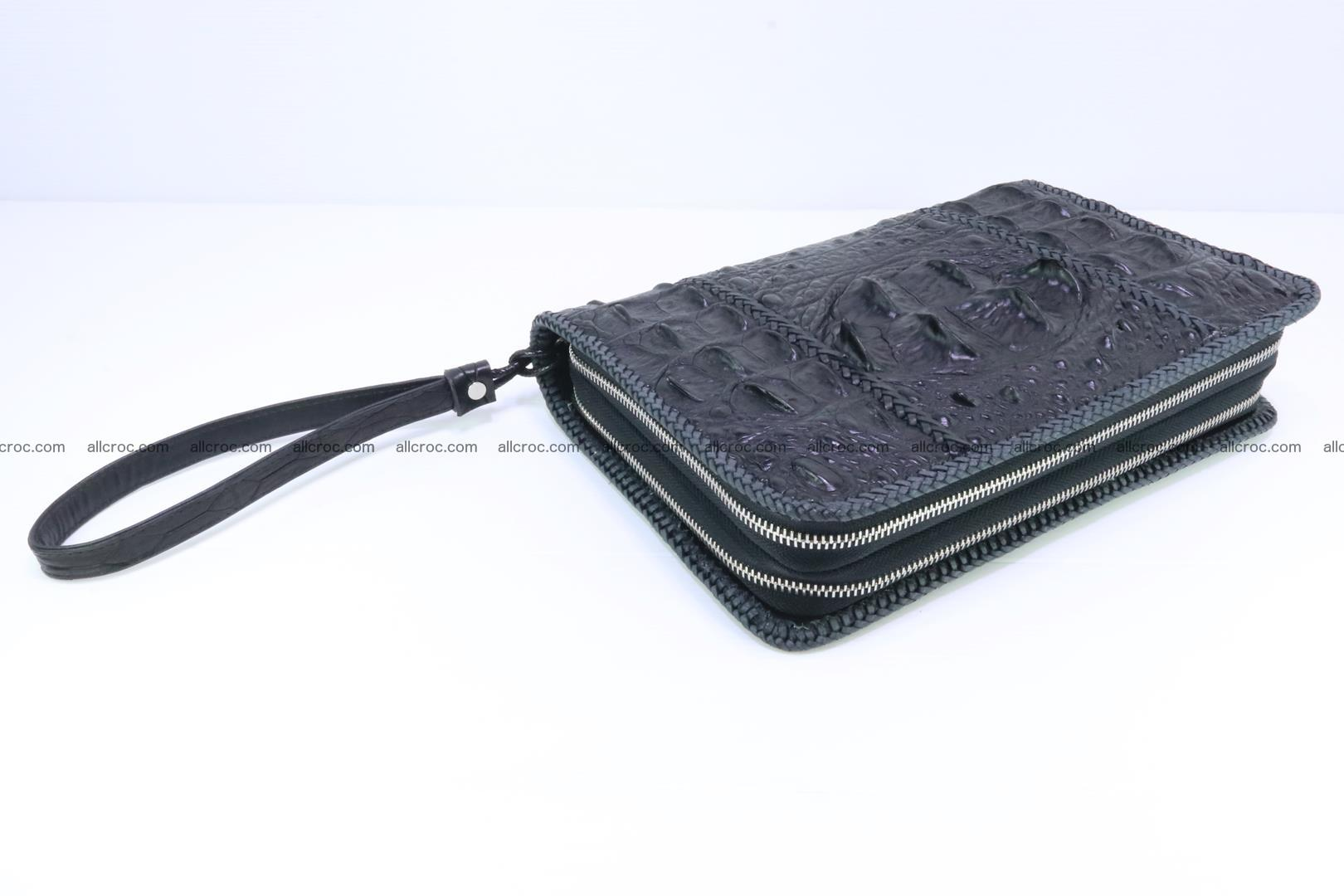 Crocodile clutch for men from genuine hornback crocodile leather 164 Foto 6
