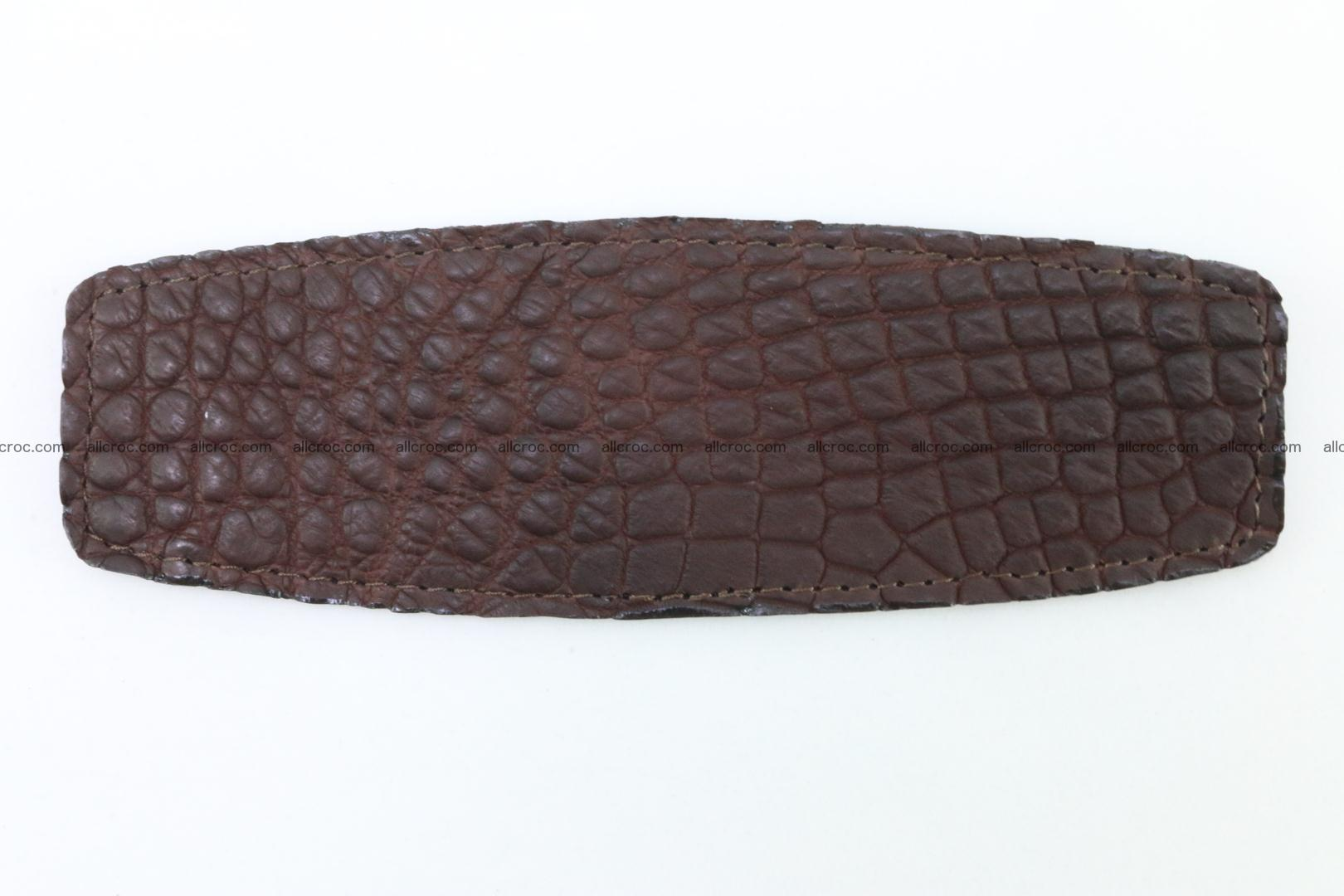 Crocodile leather half-belt for simple pin buckle 001 Foto 1