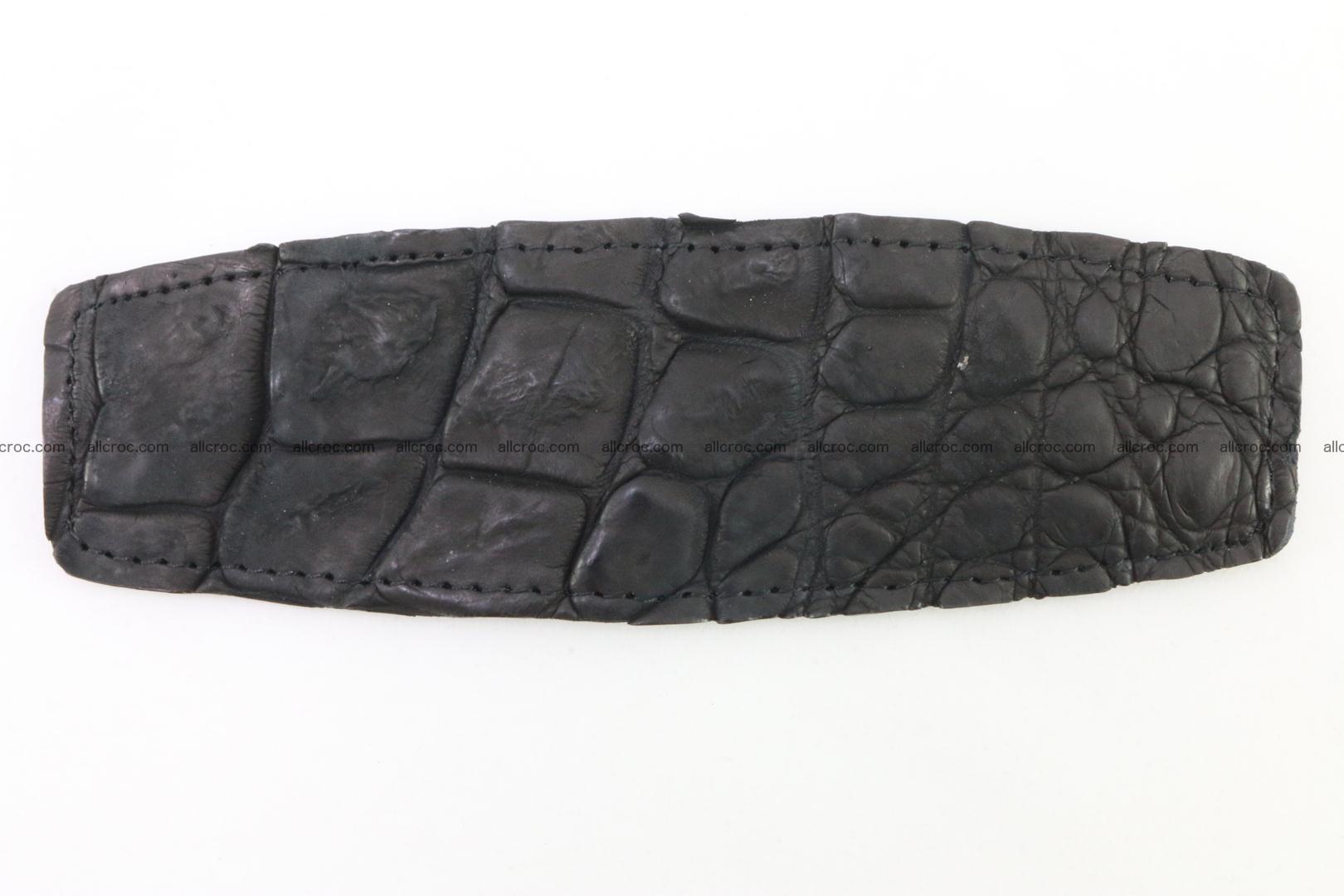 Crocodile leather half-belt for simple pin buckle 002 Foto 1