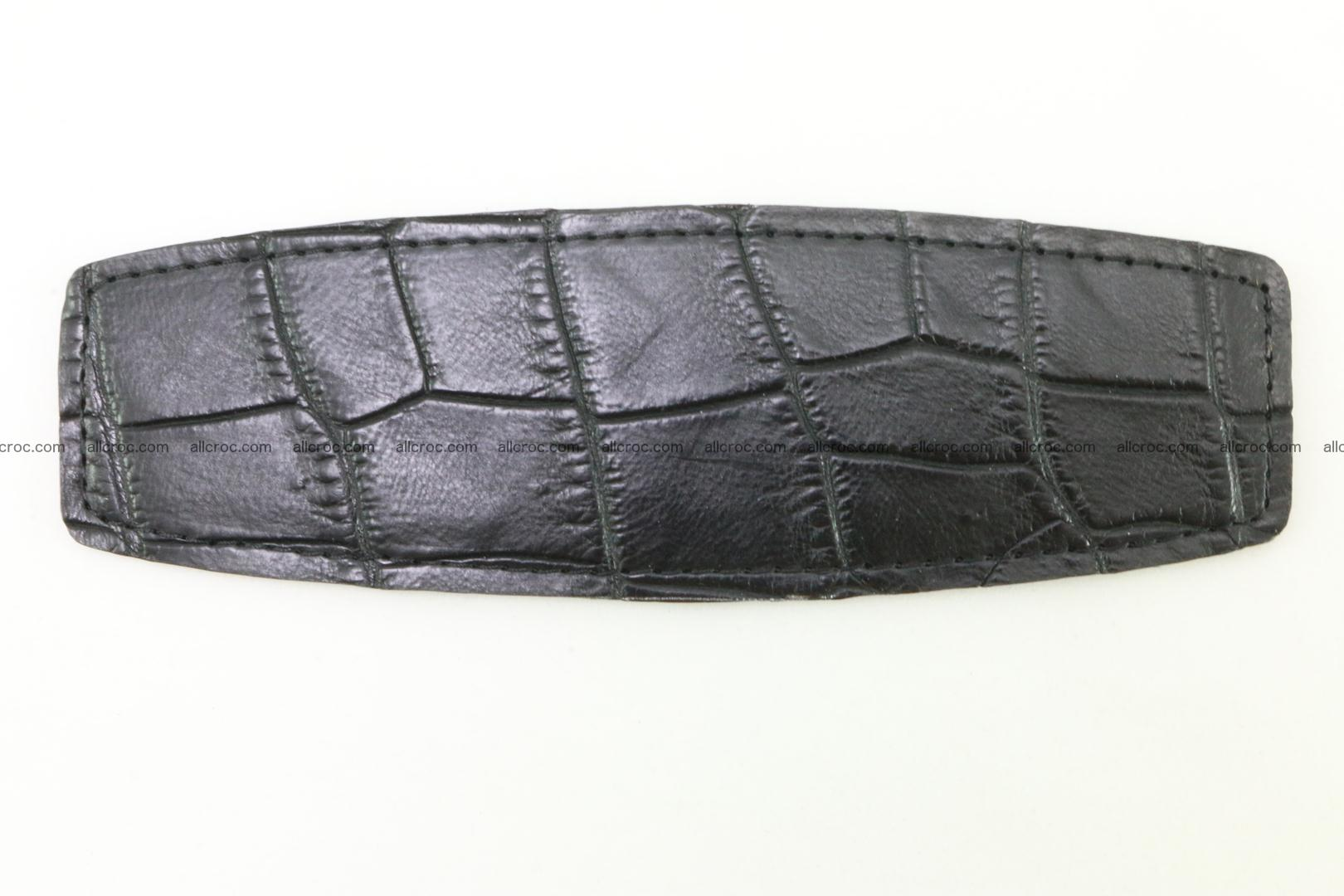 Crocodile leather half-belt for simple pin buckle 003 Foto 1