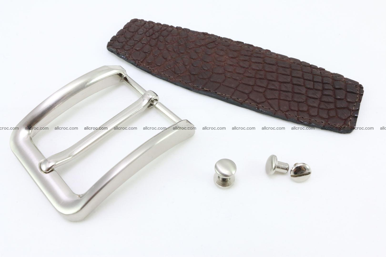 Crocodile leather half-belt for simple pin buckle 001 Foto 0