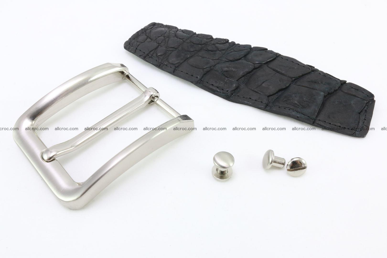 Crocodile leather half-belt for simple pin buckle 002 Foto 0