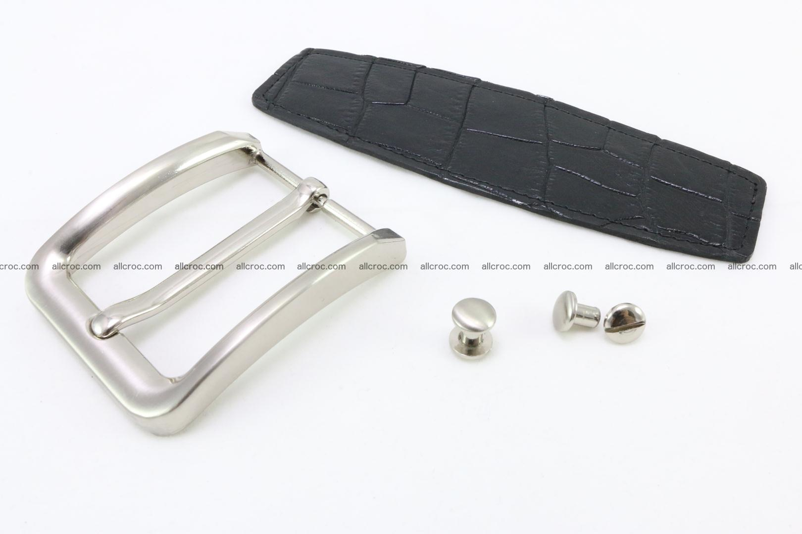 Crocodile leather half-belt for simple pin buckle 003 Foto 0