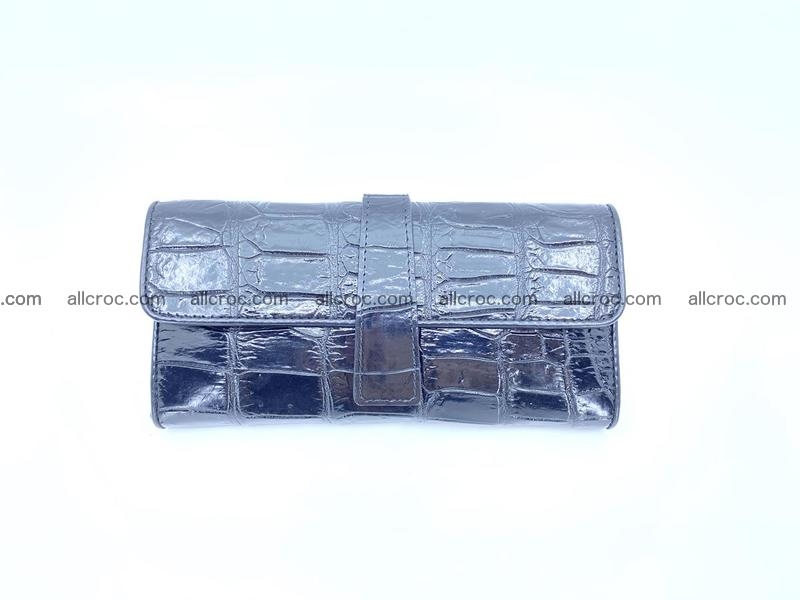 Crocodile leather long wallet 1113