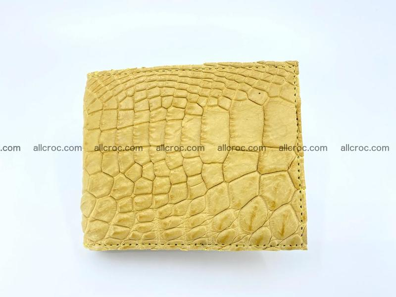 Crocodile leather money clip 936