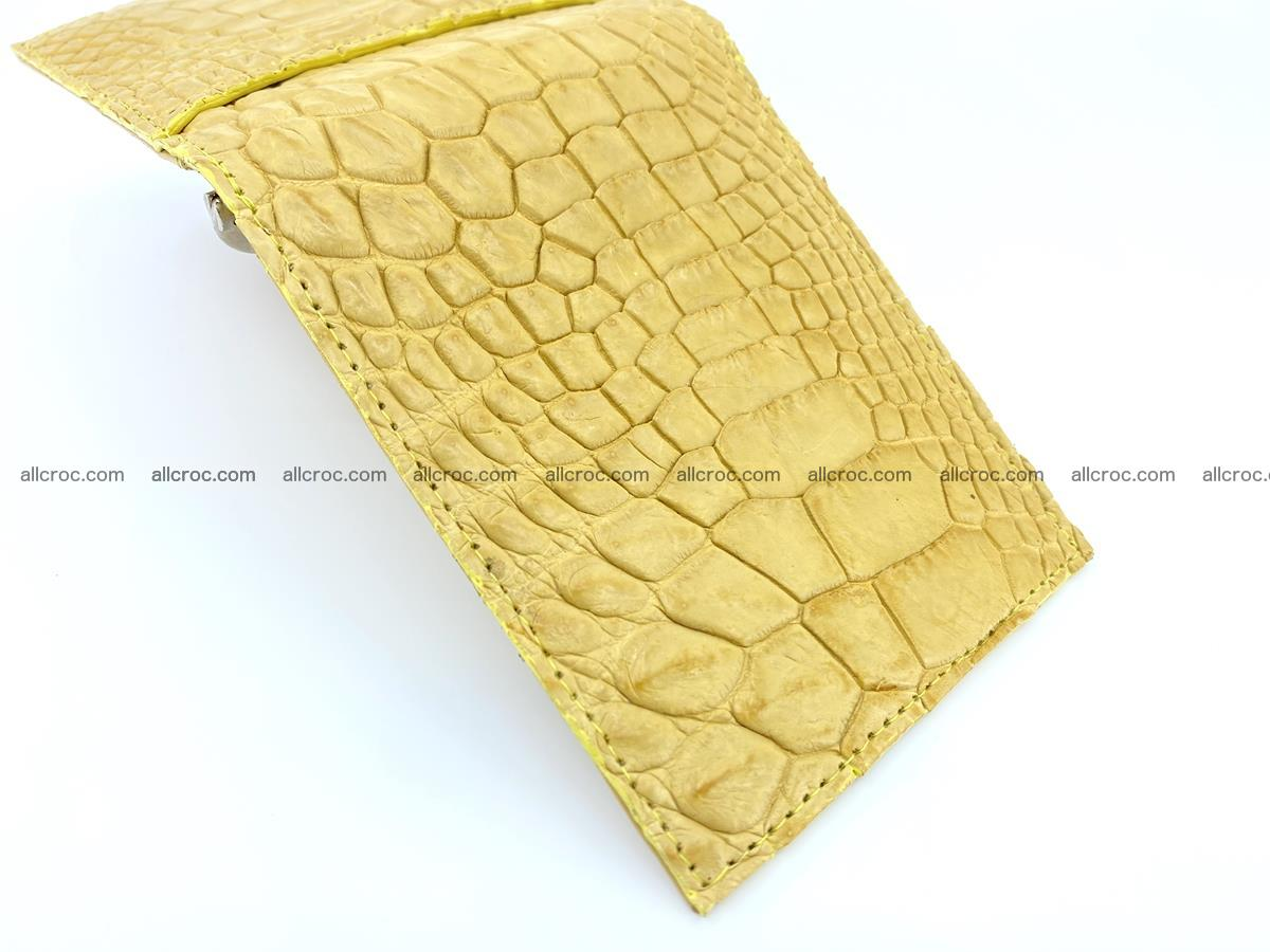 Crocodile leather money clip 936 Foto 2