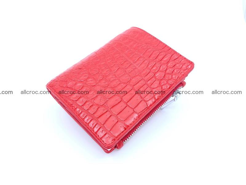Crocodile leather vertical wallet 1165
