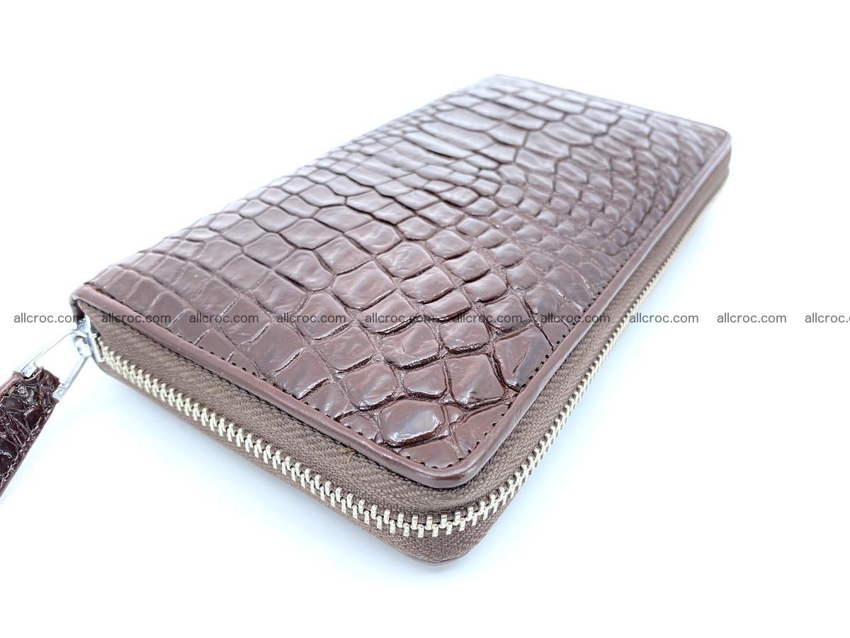 Crocodile skin zip wallet L-size 539 Foto 0