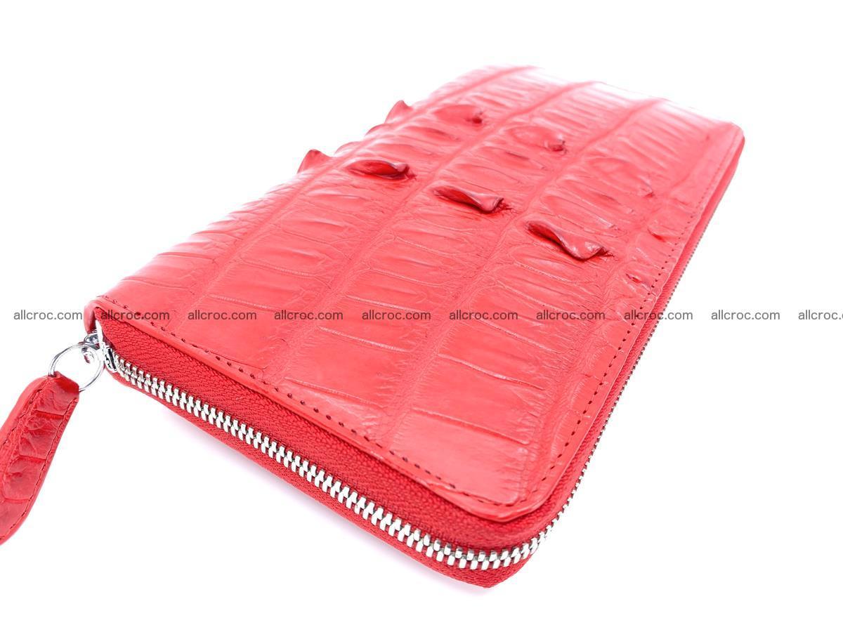 Crocodile skin zip wallet L-size 535 Foto 0