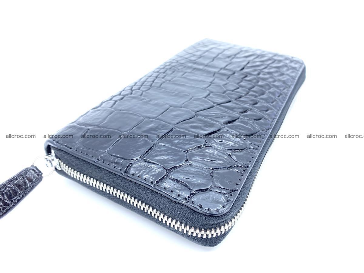 Crocodile skin zip wallet L-size 538 Foto 1